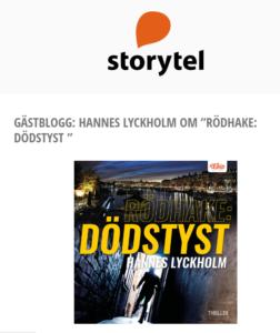 Rödhake: Dödstyst gästblogg Storytel
